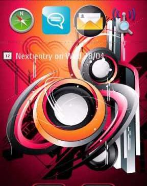 Abstract Theme For Nokia S60v5 S^3