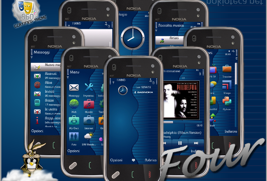 Four Blue Theme For Nokia S60v5 S^3