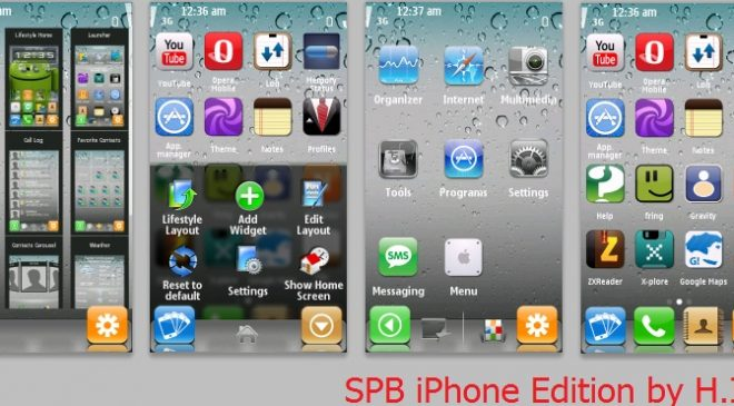 Spb mobile shell 3. 7 on nokia x6 (android like theme) youtube.