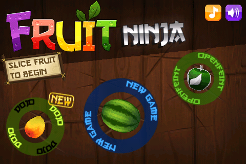 Fruit Ninja for Nokia N8 / C7 / C6-01 / E7