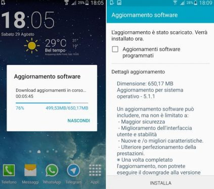 the Galaxy Note 4 Europeans receive Lollipop 5.1.1