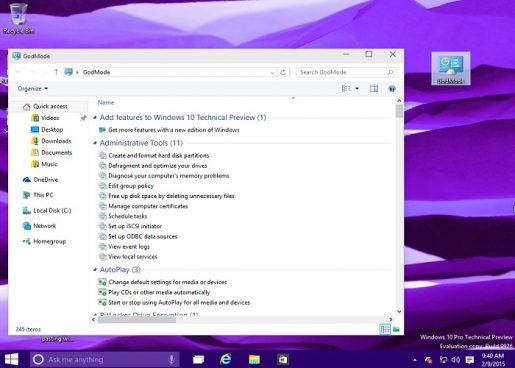 How To Access the God Mode Windows 10