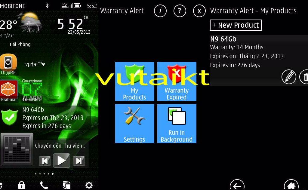 eAvathar Warranty Alert v1.00 Signed Nokia S60v5, Symbian^3