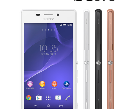 Sony XPERIA M2 Aqua D2403 Android 4.4.4 Official Firmware Flash Files