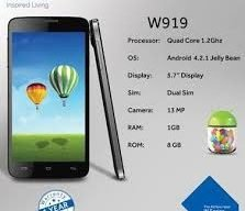 Haier W919 MT6589 Official Firmware Flash Files