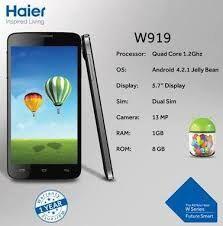 Haier W919 MT6589 Firmware Flash Files