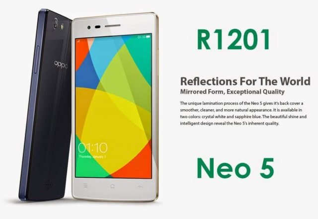 Oppo Neo 5 R1201 MT6582 Official Stock Firmware SP Flash Tool Files
