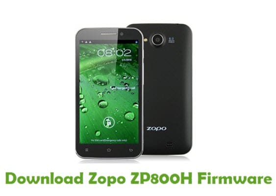 Zopo ZP800H Firmware Flash Files