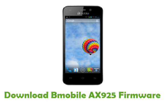 Bmobile AX925 MT6580 Android 7.0 Official Firmware Flash Files