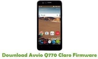 Avvio Q770 Digicel MT6580 Official Firmware Flash Files