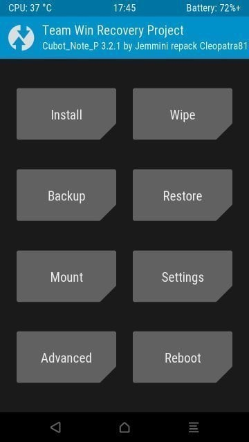 How To - Cubot Note Plus MT6737T TWRP 3.2.1