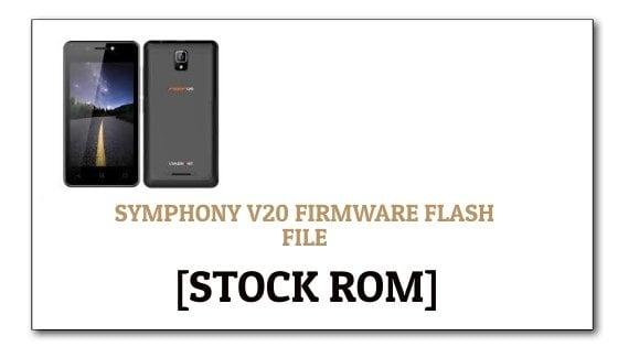 Symphony Roar V20 Firmware Flash File [Stock ROM]