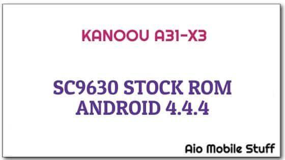 Kanoou A31-X3 Firmware