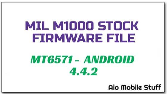 Mil M1000 Firmware