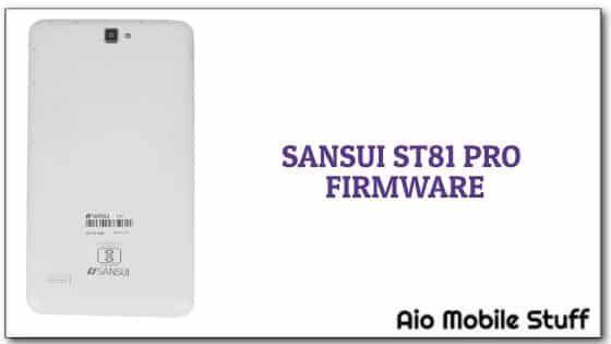 Sansui ST81 Pro Firmware