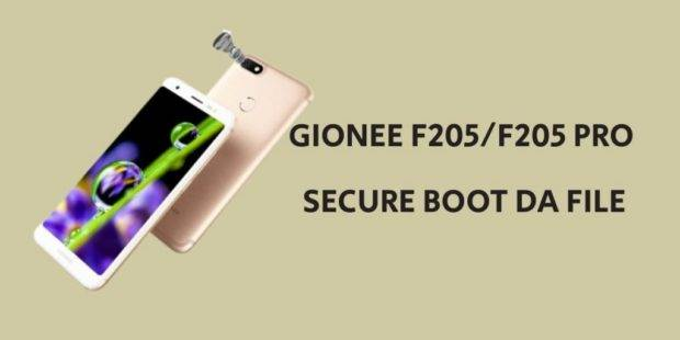 Gionee F205 F205 Pro Secure Boot DA File