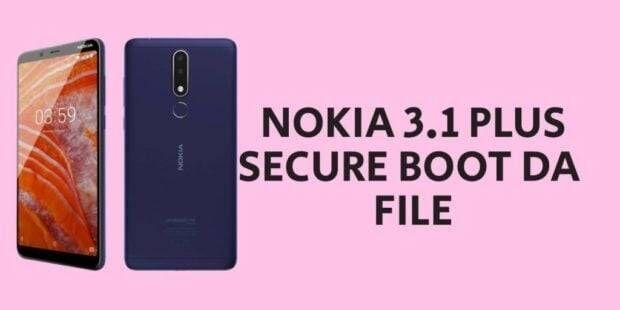 Nokia 3.1 Plus Secure Boot DA File