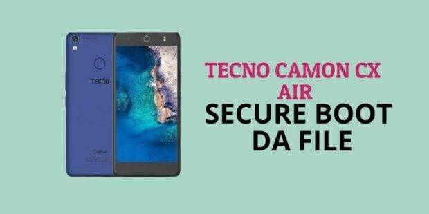 Tecno Camon CX Air Secure Boot DA File [Format Single Partition