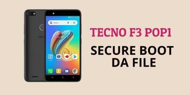 Tecno F3 POP1 Secure Boot DA File