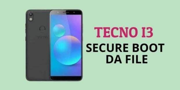 Tecno I3 Secure Boot DA File