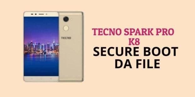 Tecno Spark Pro K8 Secure Boot DA File