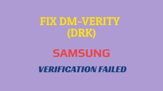Fix dm-verity Verification failed