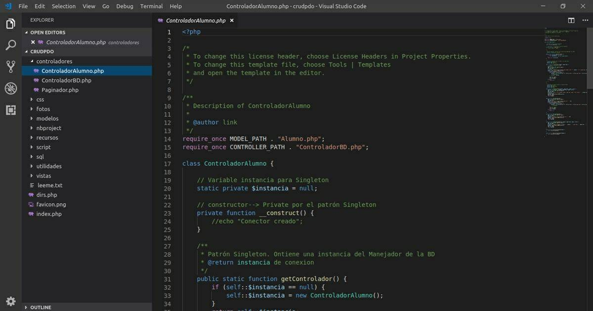 Visual Studio Code: ideal for programmers
