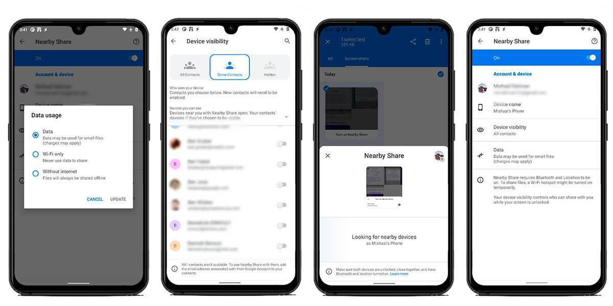 Nearby Sharing for Android will also receive a facelift
