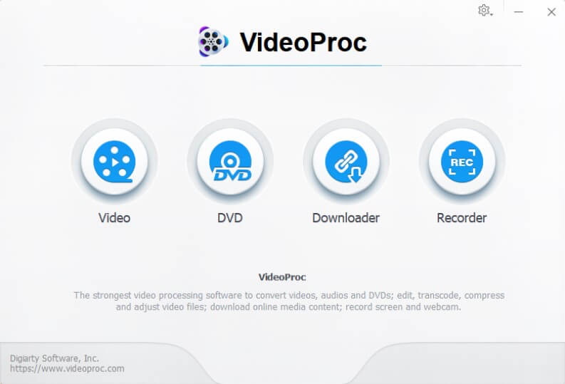 VideoProc: 4 programs in one