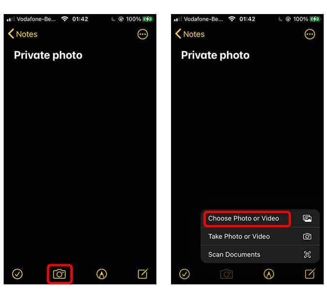 Choose photos or videos