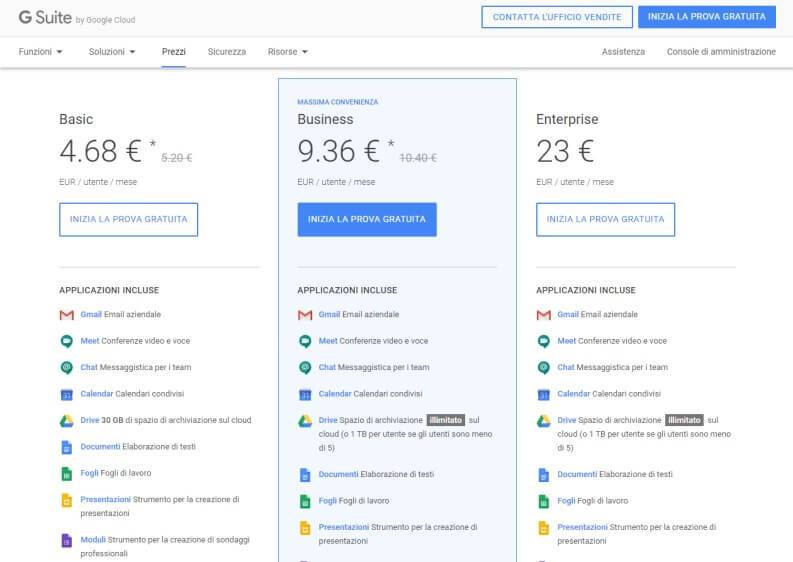 How much does Google Meet cost