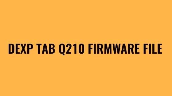 DEXP Tab Q210 Firmware