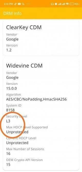 Widevine certification on POCOPHONE F2 Pro