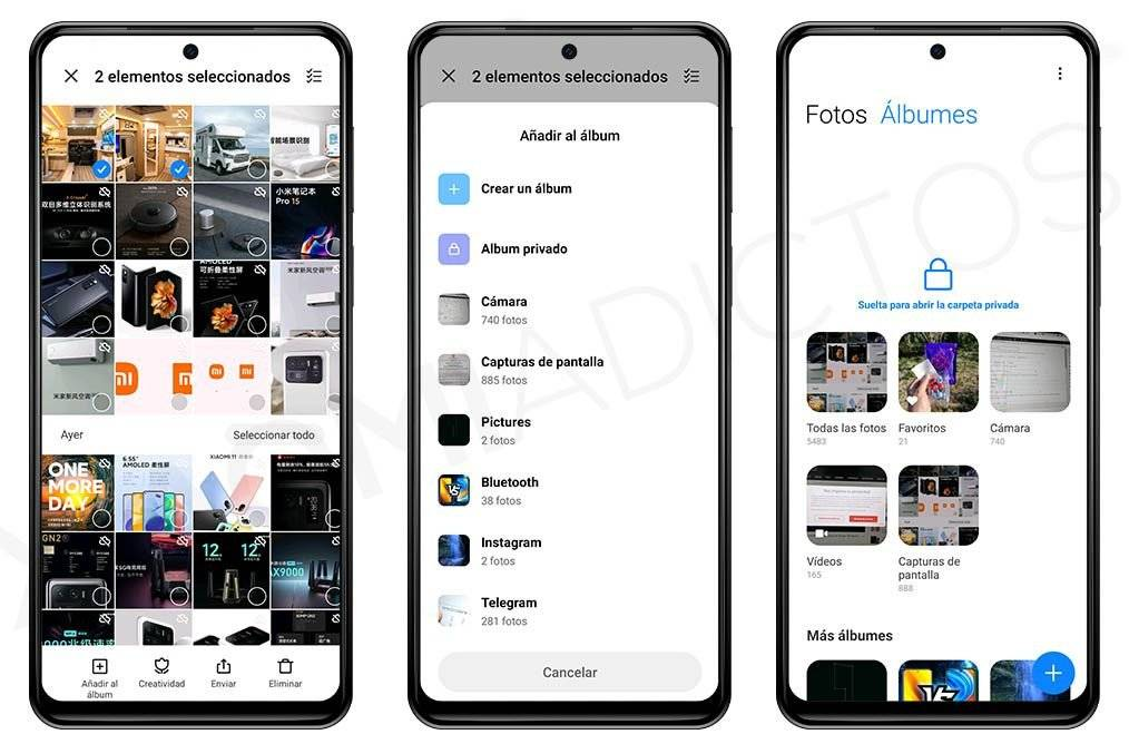 hide photos and videos from your Xiaomi gallery
