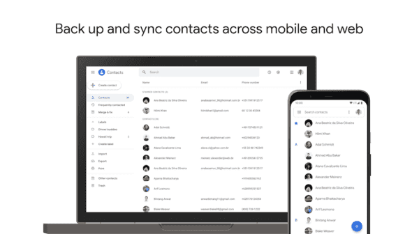move the Xiaomi address book to Google Contacts