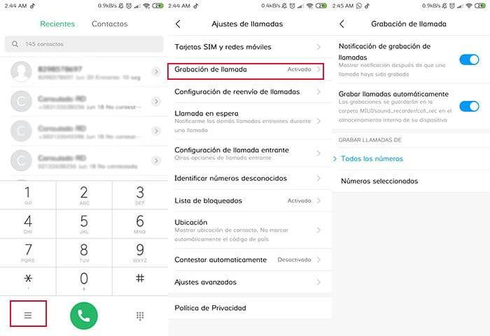 How do I activate the option to record my calls