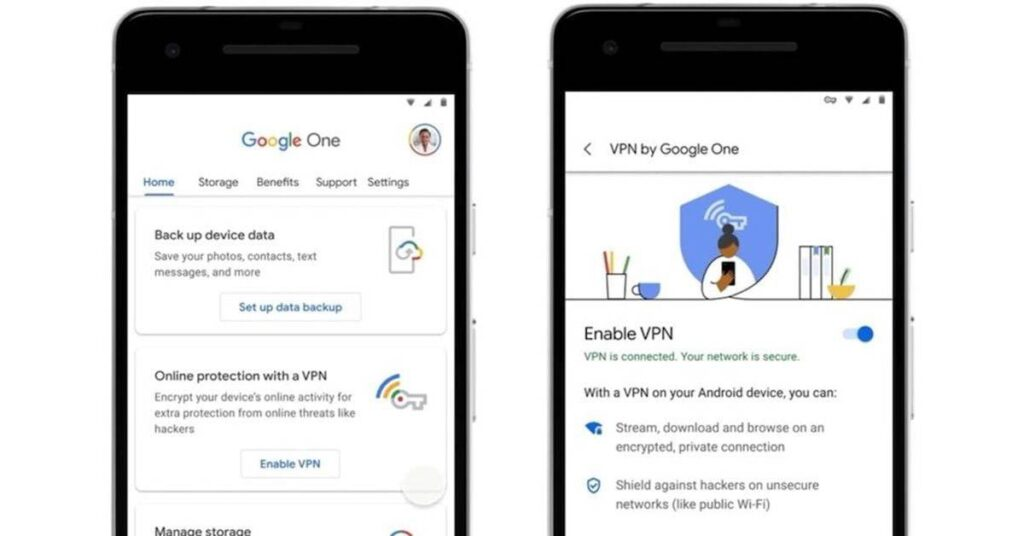 How to activate the Google One VPN