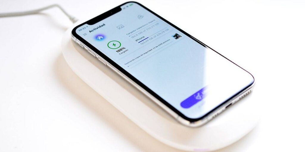 charger makes a backup of mobile when charging